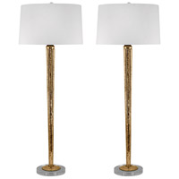 Dimond Lighting 711/S2 Candlestick 37 inch 100 watt Mercury Gold Table Lamp Portable Light, Set of 2