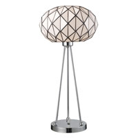 Dimond Lighting Tetra 1 Light Table Lamp in Polished Chrome 72029-1 photo thumbnail