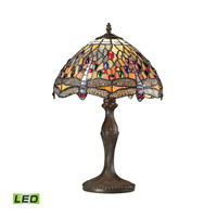 Dimond Lighting Dragonfly 1 Light LED Table Lamp in Tiffany Bronze 72078-1-LED