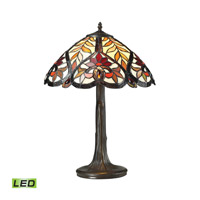 Dimond Lighting Brimford 1 Light LED Table Lamp in Tiffany Bronze 72080-1-LED