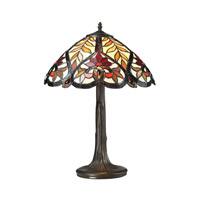 Brimford 22 inch 60 watt Tiffany Bronze Table Lamp Portable Light in Incandescent