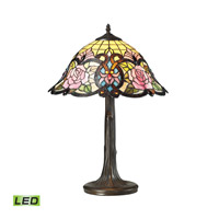 Dimond Lighting Rosedale 1 Light LED Table Lamp in Tiffany Bronze 72081-1-LED