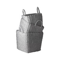 Lazy Susan by Dimond Nested Nested Basket in Silver 784018