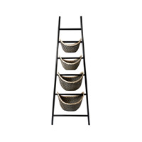 Lazy Susan by Dimond Signature Ladder Basket in Black 797001