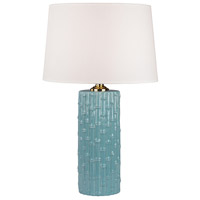 Dimond Lighting 8001 Bamboo 29 inch 1 watt Light Blue Table Lamp Portable Light in Incandescent