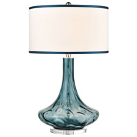 Dimond Lighting 8011 Thumb Print Glass 28 inch 1 watt Blue Swirl Table Lamp Portable Light in Incandescent