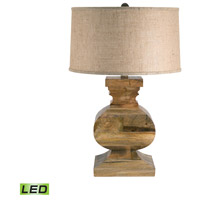 Dimond Lighting 807-LED Curved Block 28 inch 9.5 watt Natural Wood Table Lamp Portable Light in LED