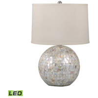 Signature 26 inch 9.5 watt Mother of Pearl Table Lamp Portable Light