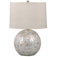 Signature 26 inch 100 watt Mother of Pearl Table Lamp Portable Light