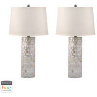 Dimond Lighting 812/S2-HUE-B Mother Of Pearl 28 inch 60 watt Mother of Pearl Table Lamp Portable Light, Set of 2