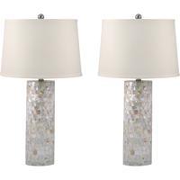 Dimond Lighting 812/S2 Signature 28 inch 100 watt Mother of Pearl Table Lamp Portable Light Set of 2
