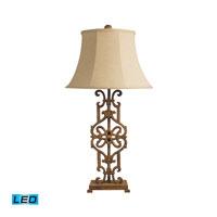 Dimond Lighting Iron Relic 1 Light Table Lamp in Albion Bronze 84-012-LED