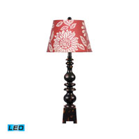 Dimond Lighting Montpelier 1 Light Table Lamp in Montpellier Black 84-846B-LED