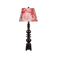 Dimond Lighting Montpelier 1 Light Table Lamp in Montpellier Black 84-846B