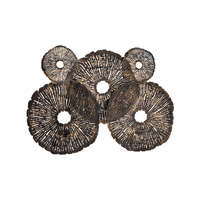 Lazy Susan by Dimond Lighting Coral Discs Fire Screen in Oil Rubbed Gold 8468-059
