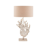 Sea Flora 32 inch 60 watt Textured Nickel Table Lamp Portable Light