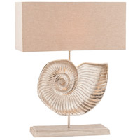 Nautilus 28 inch 60 watt Textured Nickel Table Lamp Portable Light