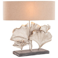Maidenhair 28 inch 60 watt Textured Nickel Table Lamp Portable Light