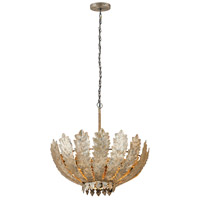 Taj 3 Light 31 inch Antique Gold Chandelier Ceiling Light