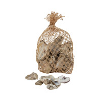 Lazy Susan by Dimond Signature Oyster Shell Sack in Brown and Gray 853001