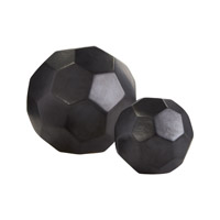 Dimond Home Faceted Spheres Decorative Accessory in Black Earthenware 857-147/S2