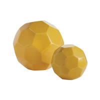 Dimond Home Faceted Spheres Decorative Accessory in Yellow Earthenware 857-148/S2