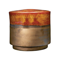 Dimond Home Signature Stool in Burnt Gold Crackle and Rustic Bronze Earthenware 857-165