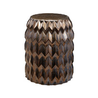 Dimond Home Chevron Bullet Stool in Crystal Gold Earthenware 857-173