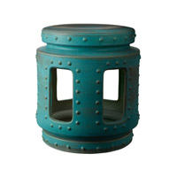 Lazy Susan by Dimond Signature Throne Stool in Turquoise 857043