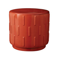 Lazy Susan by Dimond Signature Tread Stool in Orange 857048