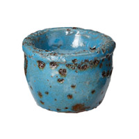 Lazy Susan by Dimond Rustic Votive in Blue 857070