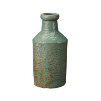 Lazy Susan by Dimond Rustic Milk Bottle in Green 857082