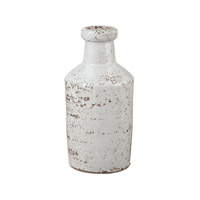 Lazy Susan by Dimond Rustic Milk Bottle in White 857084
