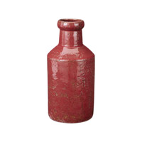 Lazy Susan by Dimond Rustic Milk Bottle in Red 857086