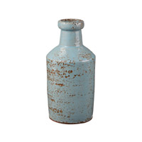 Lazy Susan by Dimond Rustic Milk Bottle in Gray and Blue 857087