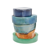 Lazy Susan by Dimond Ombre Side Table in Multi 857107
