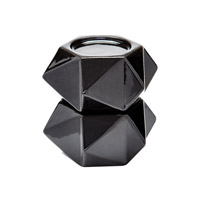 Lazy Susan by Dimond Signature Candleholder in Black 857126/S2