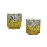 Lazy Susan by Dimond Ombre Hurricane in Yellow Ombre 876029/S2