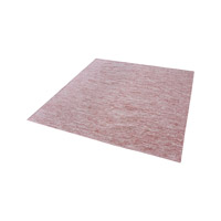 Alena Marsala And White Rug in Marsala & White, 6 in. Square, Handmade