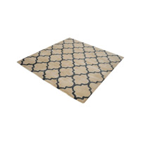 Wego Natural And Black Rug in 6 in. Square, Handwoven, Printed