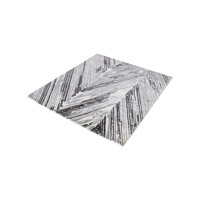Rhythm Grey And White Rug in 6 in. Square, Handwoven, Printed