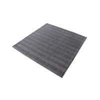 Ronal Charcoal Rug in 16 in. Square, Handwoven, Flatweave