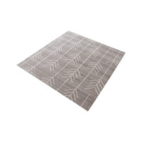 Armito Warm Grey Rug in 6 in. Square, Handtufted