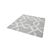 Desna Grey Rug in 6 in. Square, Handtufted