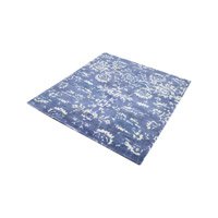 Senneh Blue And White Rug in Blue & White, 6 in. Square, Handwoven, Printed