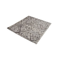 Darcie Iron Ore Grey,Cream Rug in 16 in. Square, Handtufted, Distressed Printed