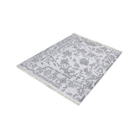 Harappa Grey Rug in 16 in. Square, Handknotted