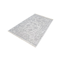 Harappa Silver & Ivory Rug in Extra Large