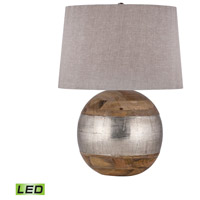 Dimond Lighting 8983-020-LED Signature 27 inch 9.5 watt Mango Wood and German Silver Table Lamp Portable Light in LED