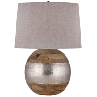 Dimond Lighting 8983-020 Signature 27 inch 150 watt Mango Wood and German Silver Table Lamp Portable Light in Incandescent